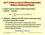 sct 17 3 effect on taxes of different depreciation methods and recovery periods