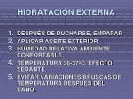 hidrataci n externa