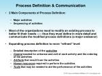 process definition communication