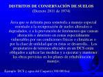 distritos de conservaci n de suelos decreto 2811 de 1974