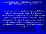 reas forestales protectoras en cuencas hidrogr ficas decreto 1449 de 1977