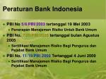 peraturan bank indonesia