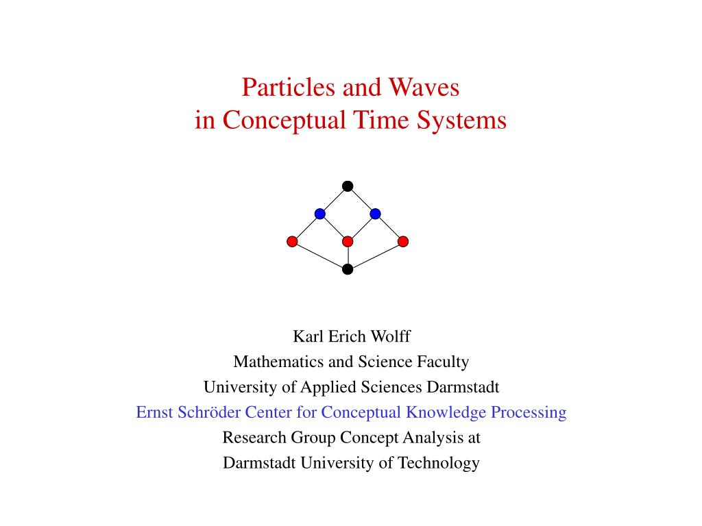 particles and waves in conceptual time systems l.