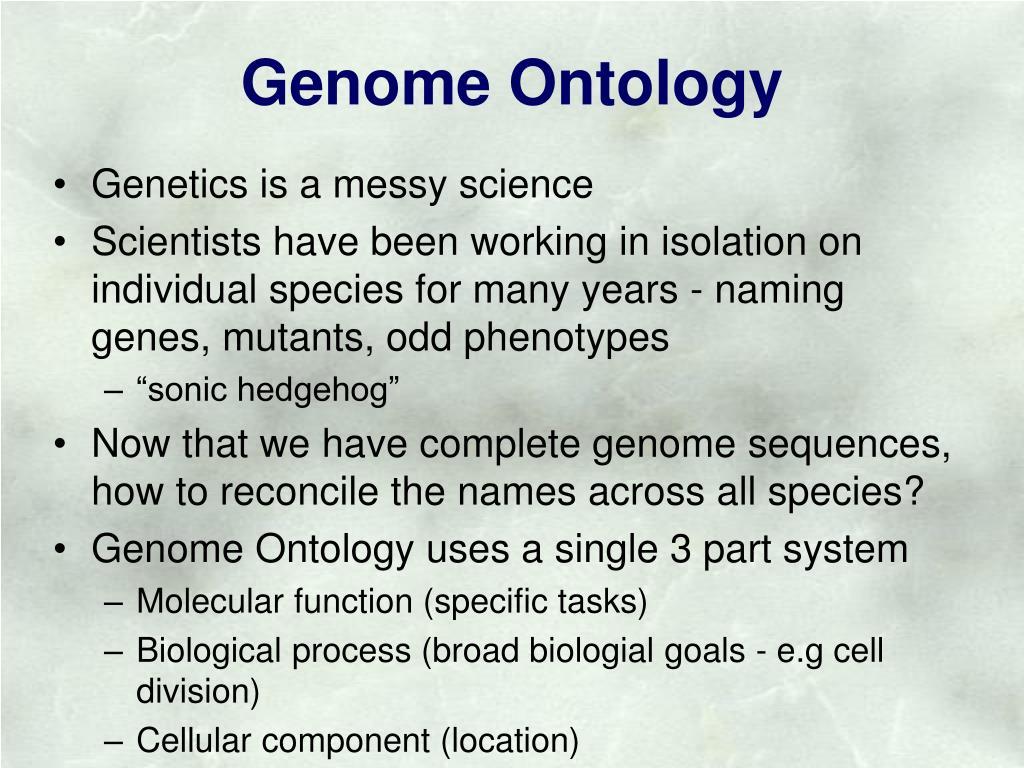 Genome Ontology