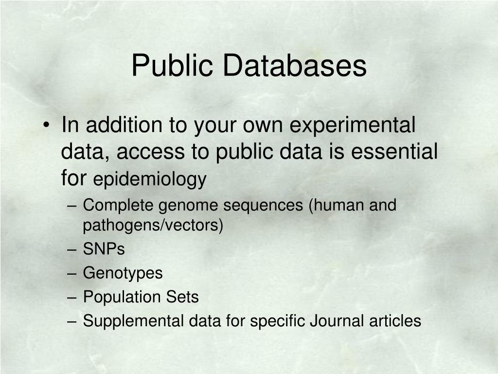 Public Databases