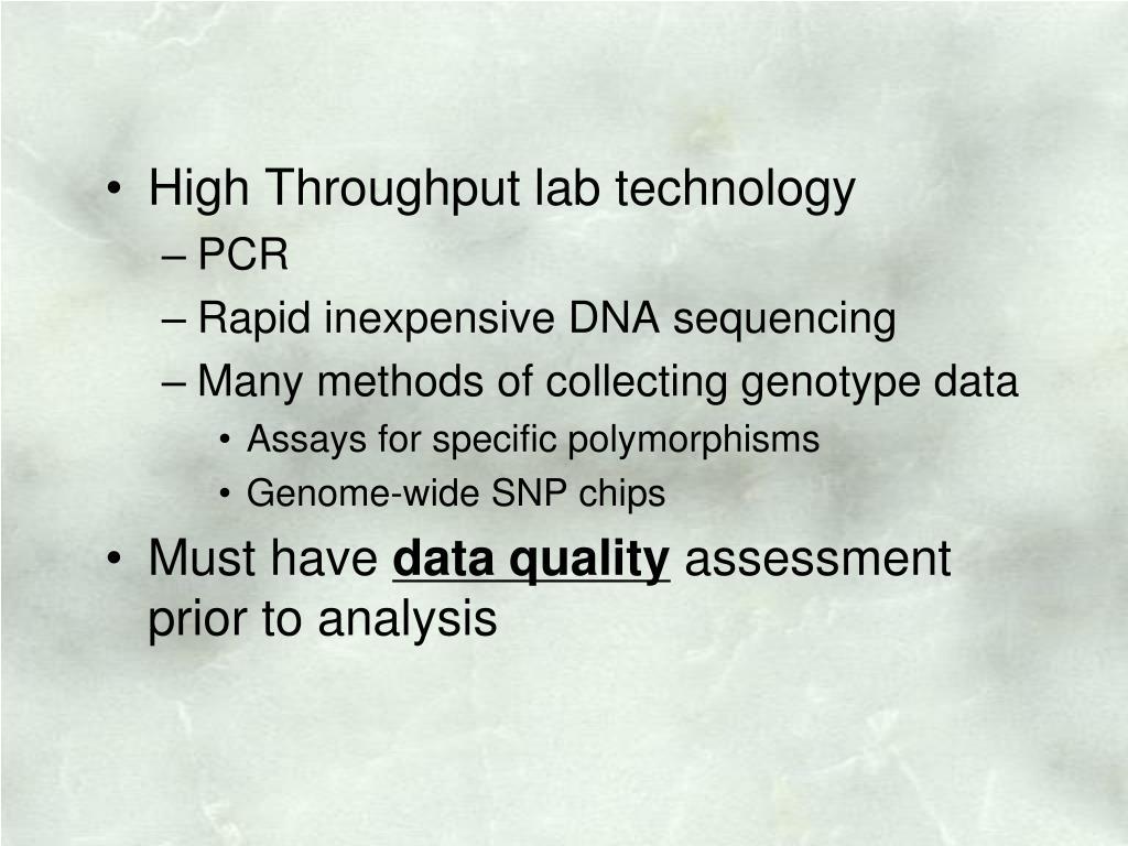 High Throughput lab technology