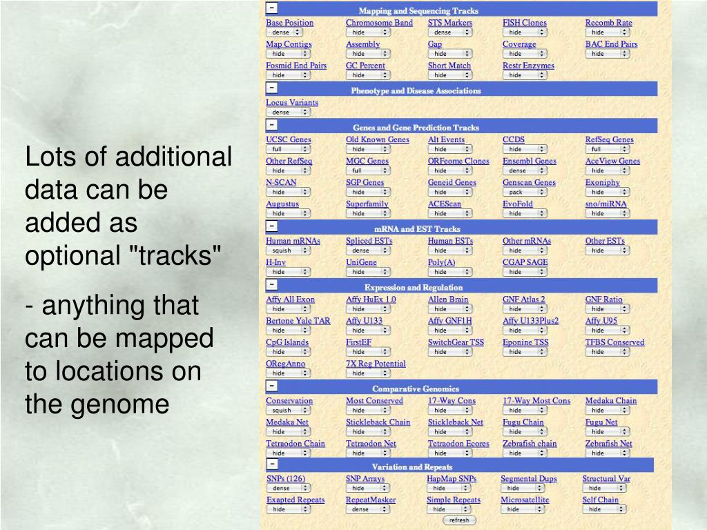 """Lots of additional data can be added as optional """"tracks"""""""