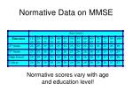normative scores vary with age and education level