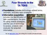 four strands in the ta teks1
