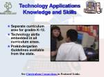 technology applications knowledge and skills