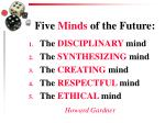 five minds of the future