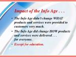 impact of the info age