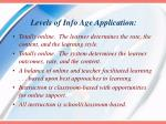 levels of info age application