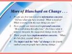 more of blanchard on change