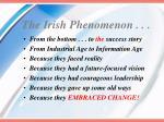the irish phenomenon