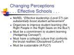 changing perceptions effective schools