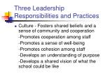 three leadership responsibilities and practices18