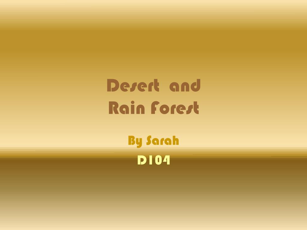 Desert  and