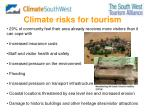 climate risks for tourism
