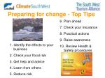 preparing for change top tips