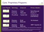 curis proprietary programs