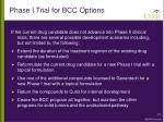 phase i trial for bcc options
