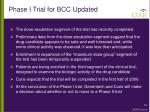 phase i trial for bcc updated