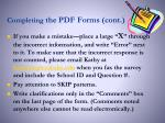 completing the pdf forms cont