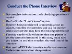 conduct the phone interview