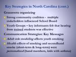 key strategies in north carolina cont