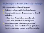 key strategies in north carolina key messages