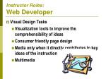 instructor roles web developer