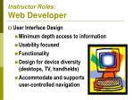 instructor roles web developer1