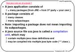 how java code are structured