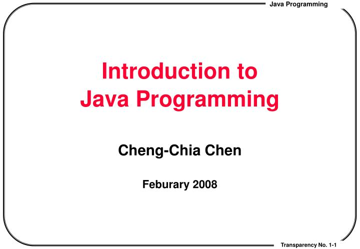 introduction to java programming n.