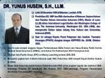 dr yunus husein s h llm