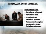 kerjasama antar lembaga