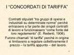 i concordati di tariffa