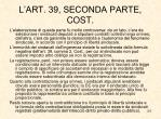 l art 39 seconda parte cost