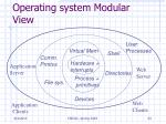 operating system modular view
