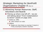 strategic marketing for nonprofit organizations chapter 8 part 2