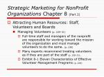 strategic marketing for nonprofit organizations chapter 8 part 23