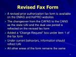 revised fax form