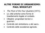 altre forme di urbanesimo paul wheatley