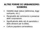 altre forme di urbanesimo sjoberg