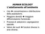 human ecology l adattamento all ambiente