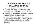 la scuola di chicago william i thomas