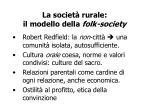 la societ rurale il modello della folk society