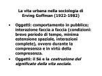 la vita urbana nella sociologia di erving goffman 1922 1982