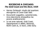 ricerche a chicago the gold coast and the slum 1929